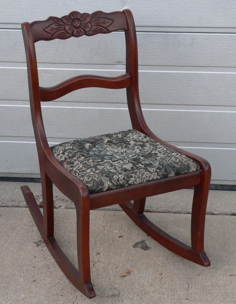 Small Size Vintage Oak Rocking Chair
