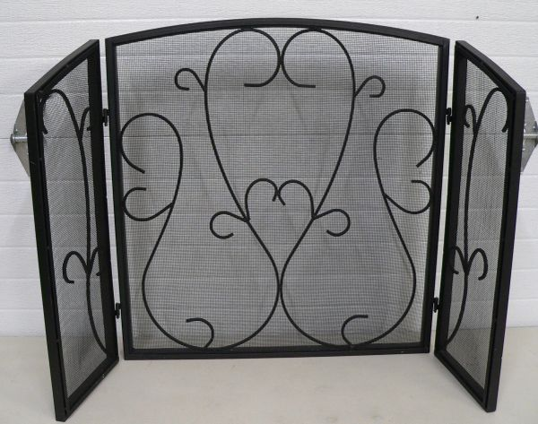 Heavy Duty Metal Fold Up Fireplace Screen
