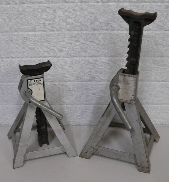 2 Ton Heavy Duty Grey Jack Stands