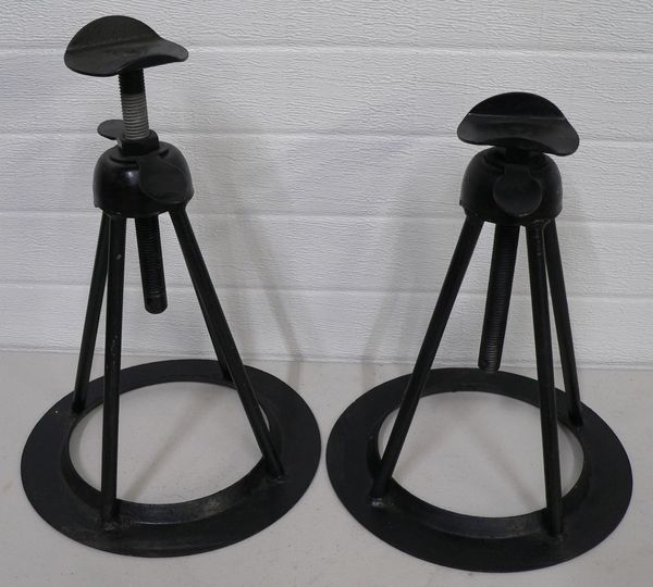 Pair Black Metal Jack Stands