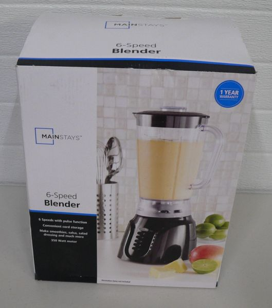 Mainstays 6 Speed Blender-New in Box
