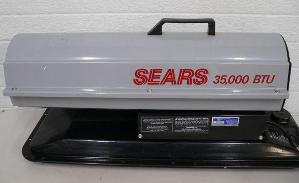 Sears 356500 35,000 BTU Diesel Fired Torpedo Heater