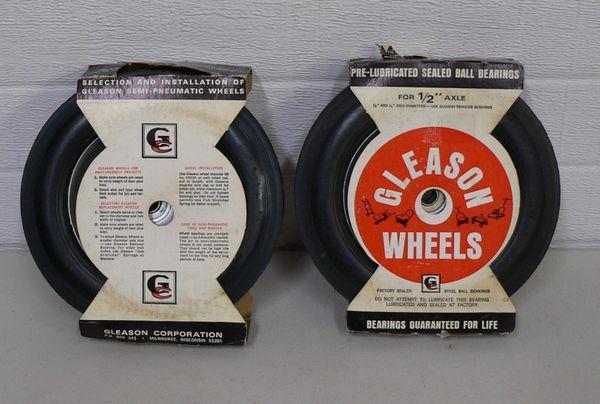 "Gleason 0813A 1/2"" Axel Wheel and Tire"