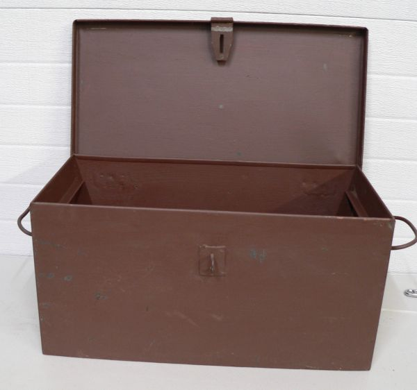 Heavy Duty Brown Metal Locking Storage Box