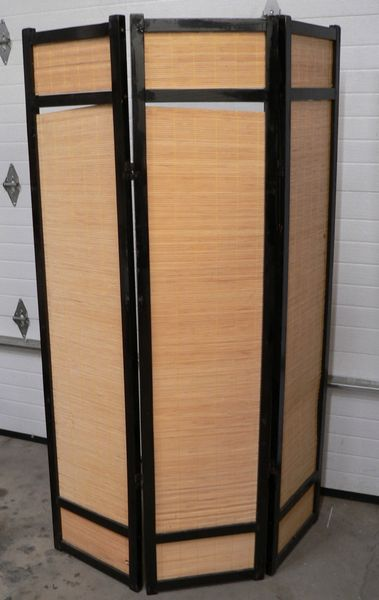 "71"" Tall Bamboo 3-Panel Room Divider"