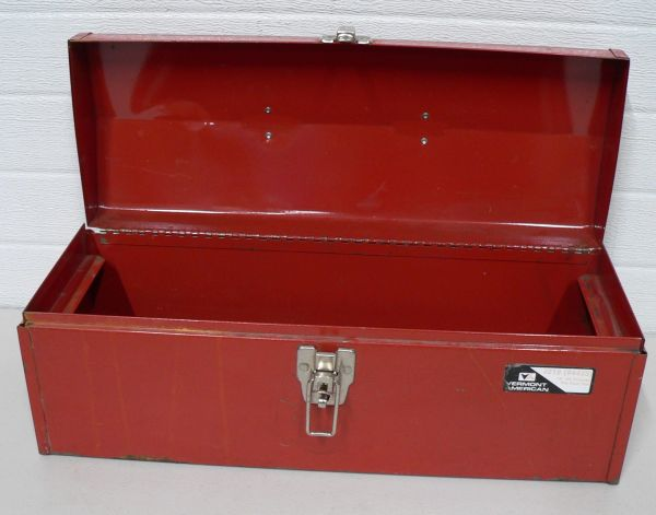 Vermont American #219 Red Metal Tool Box