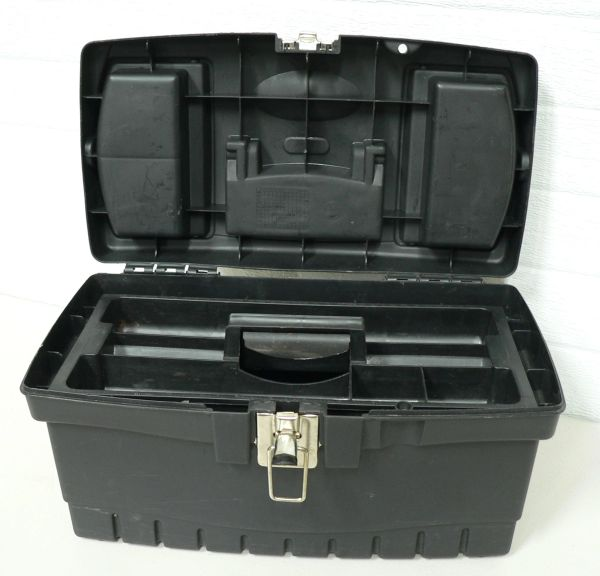 B&D Plastic Tool Box with Removable Tray