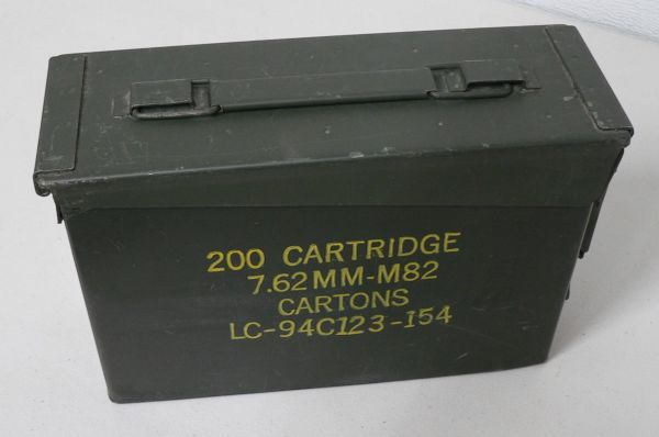 Small Military Metal Ammo Box