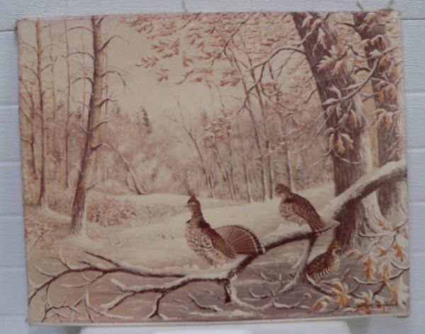 Pheasant Picture on Cloth? By Floyd Hubbard
