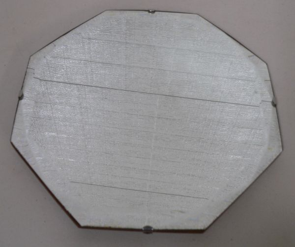 Vintage Wood Framed Beveled Octagon Mirror