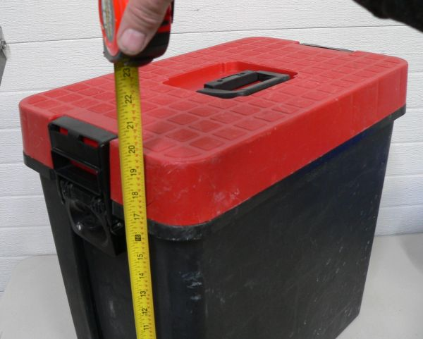 Red and Black Plastic Large Size Tool Box