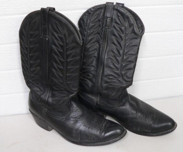 Black Cowboy Boots-Size 10