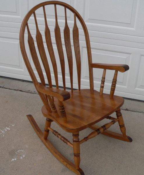 Solid Oak Rocking/Rocker Chair