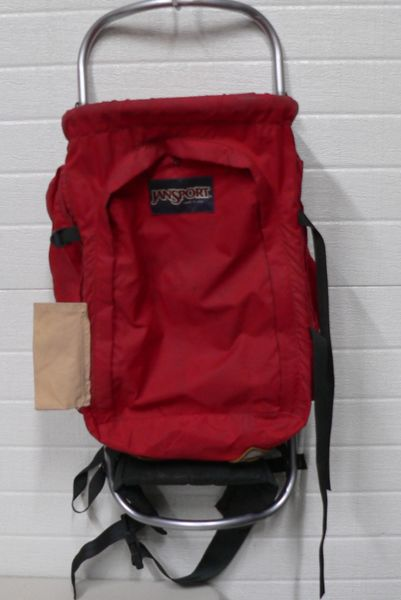 Red Jansport External Aluminum Frame Backpack