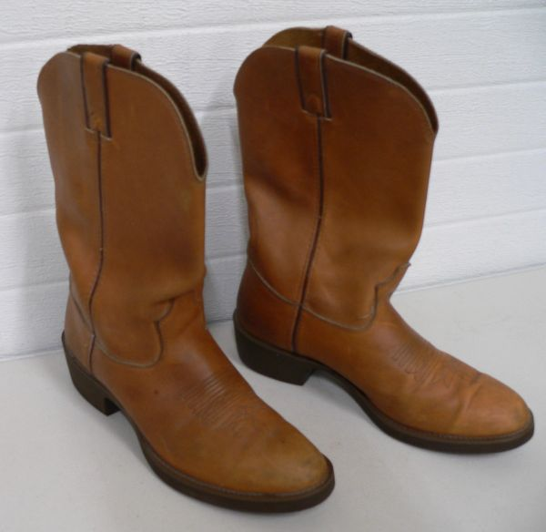 Brown Leather Western Boots-Size 10
