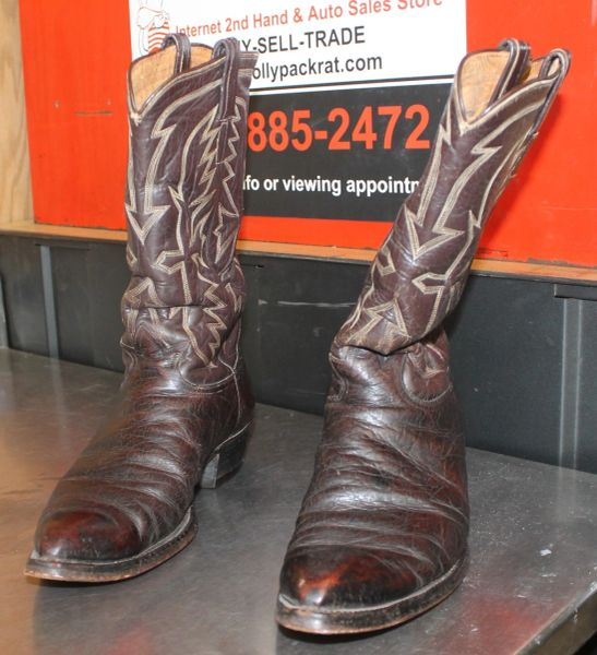 Tony Lama Brown Cowboy Boots-Size 9?