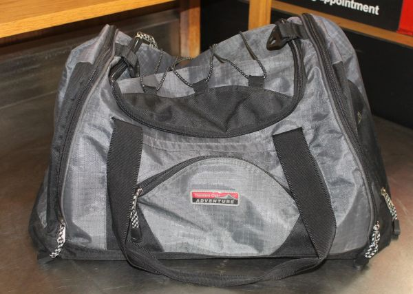 Traveler Club Grey/Black Adventure Nylon Carry Bag