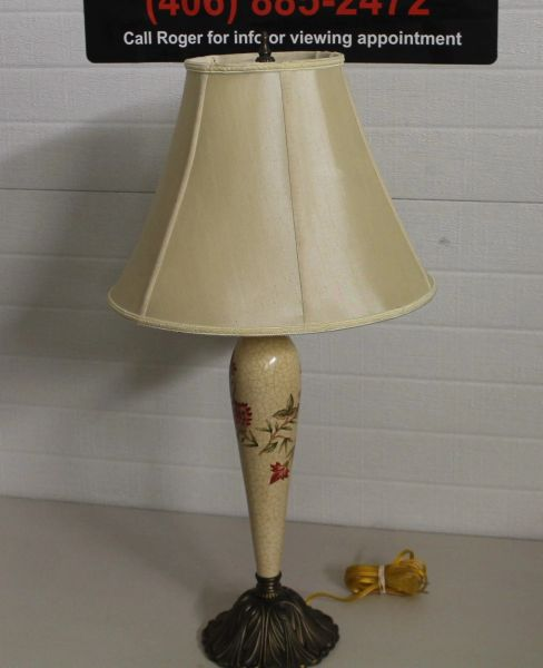Vintage Hand Painted Lamp