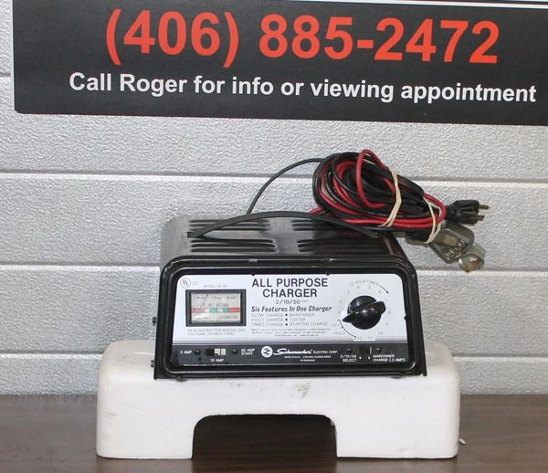 Schumaker 2/10/50 All Purpose Battery Charger/Booster