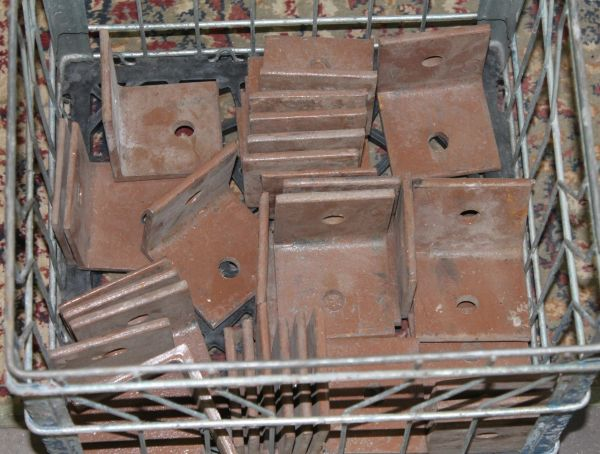 Lot of Heavy Duty Steel Support L Brackets