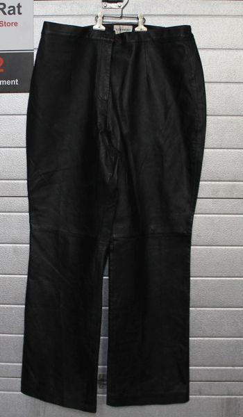Large Size Veranesi Black Leather Pants