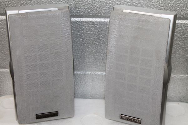 Kenwood KS-358 Surround Sound Speakers with Fabric Cover