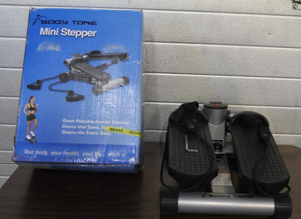 Body Tone Deluxe Mini Stepper with Upper Body Cords