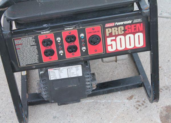 Coleman Powermate 18H OHV 5000 watt Generator