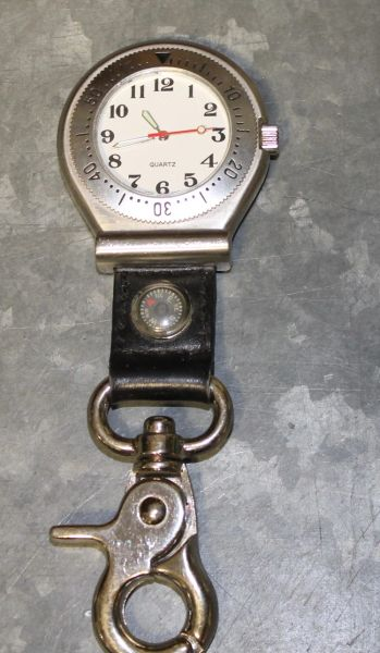 Quartz Watch with Belt Clasp and Built in Compass