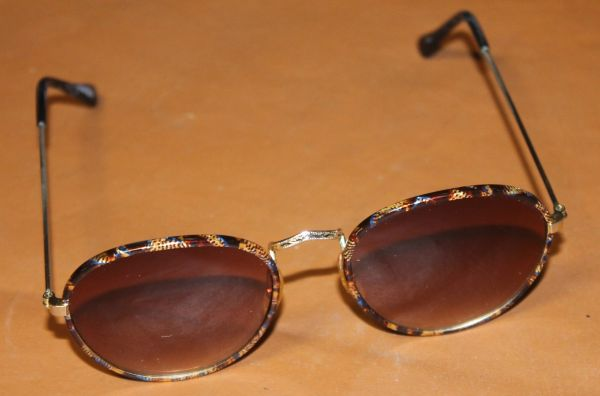 Fancy Gold Framed Polarized Sunglasses