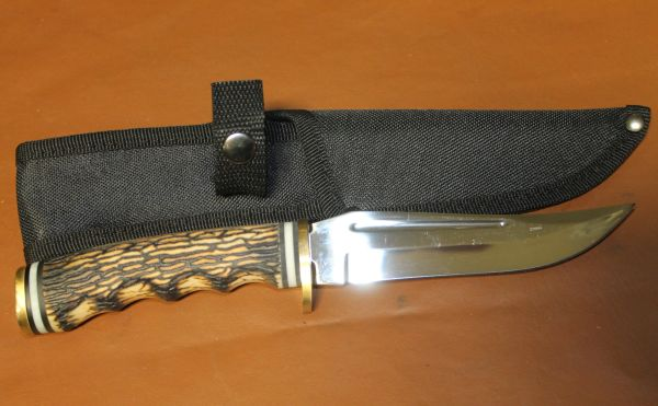 """9 1/2"""" Stainless Knife with Sheath-NEW"""