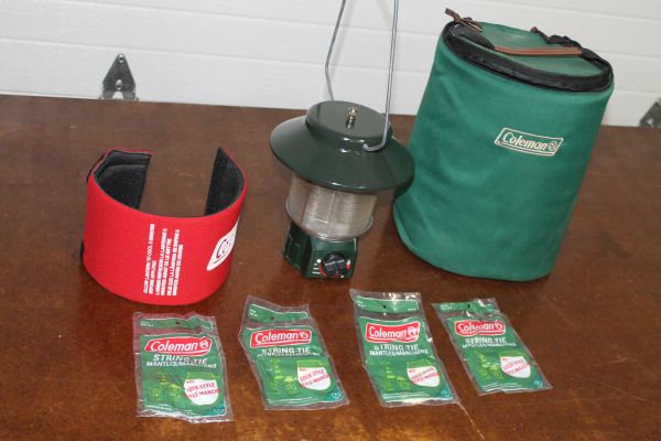 Coleman Propane Camping Lantern/Heater With Accessories