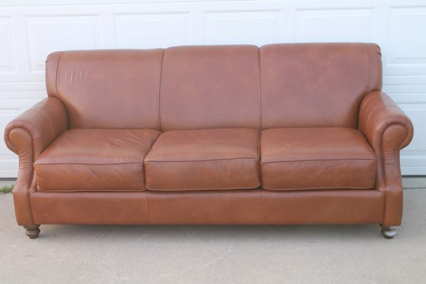 7 Ft. Leather Sofa/Couch