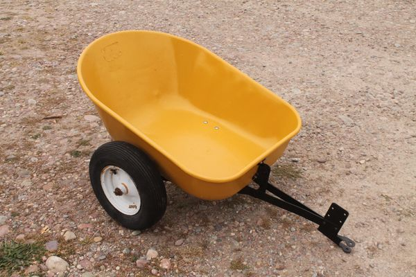Vintage Sears Pull Behind Tilt Bed Yard And Garden Trailer