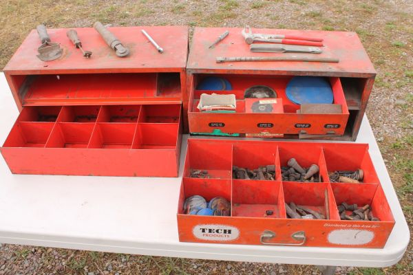 Tire Repair Tools and Accessories With 2 Metal Boxes
