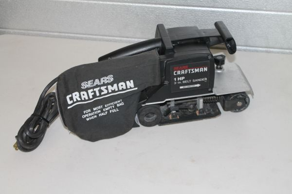 Sears Craftsman 1 HP 3'' X 21'' Belt Sander