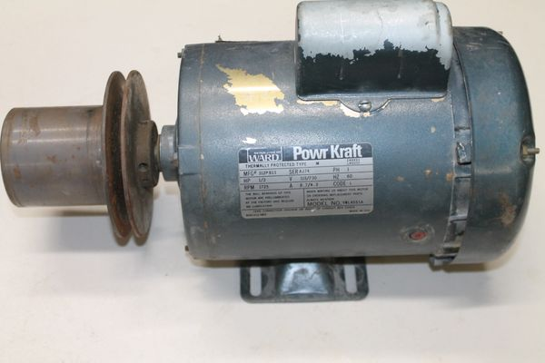 Montgomery Ward Power Kraft 1/2 HP 110V. Electric Motor