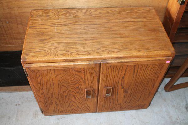 Solid Oak Double Door Cabinet