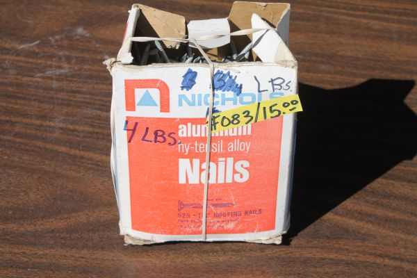 4 Lbs. Of New 1 3/4''Aluminum Alloy Roofing Nails w. Rubber Washers