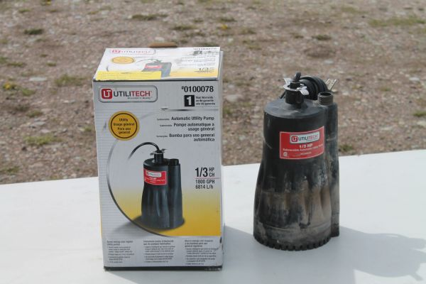 UtilityTech 1/3 HP Automatic Water/Sump Pump