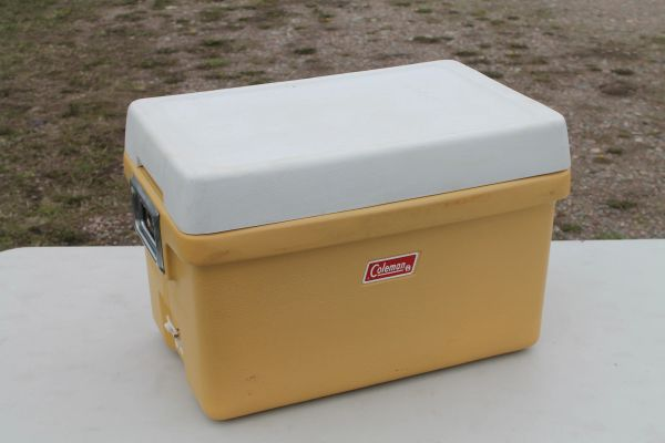 Vintage Coleman Ice Cooler With Bottle Opener