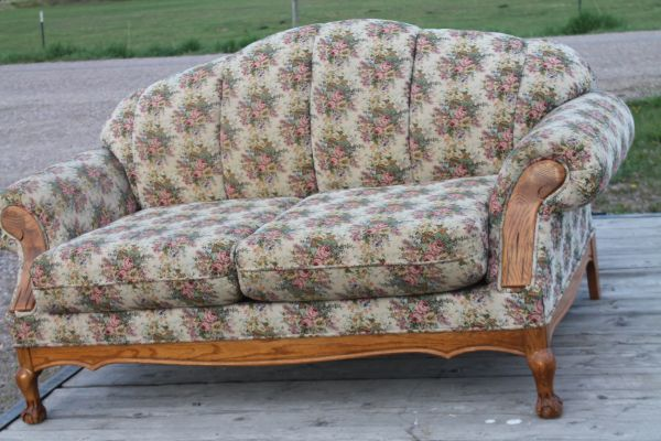 Quality Built Loveseat And Matching Chair