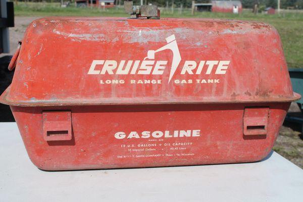 Vintage Cruise Rite Mo.# 350 12 Gallon Long Range Boat Gas Tank