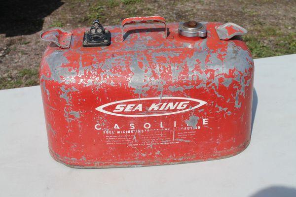 Vintage Sea King 6 Gallon Metal Boat Gas Tank