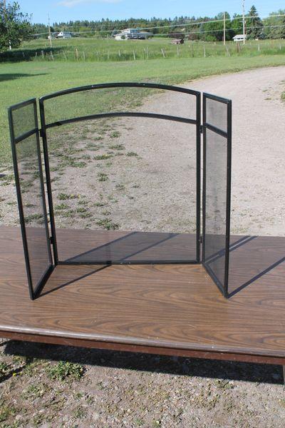 Fold-Up Metal Fireplace Screens