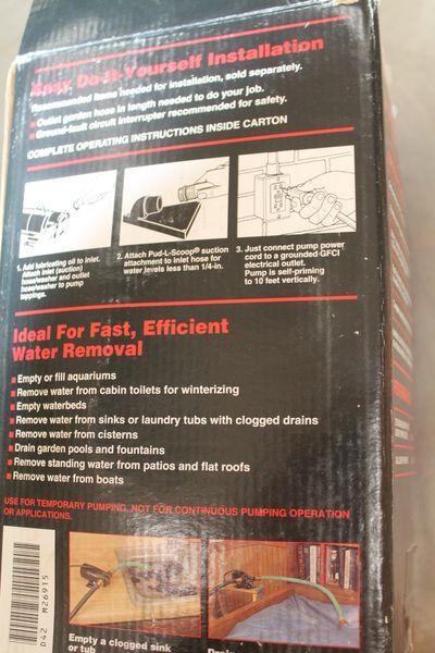 Like New Craftsman Portable Utility Pump ( Mo.# 300.269151 )