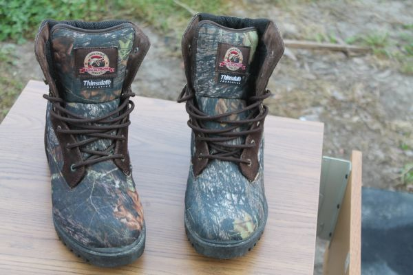Size 12 Brahma Camo Boots With Thinsulate Insulation