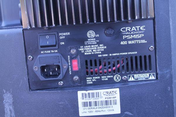 Crate PSM15P Powered Speaker