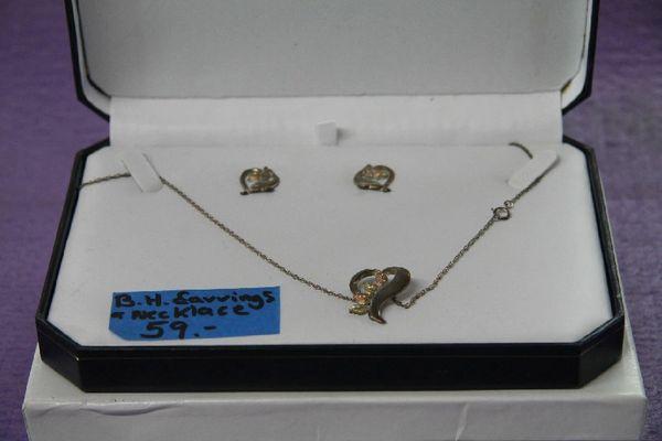 Black Hills Gold Necklace & Earrings Set