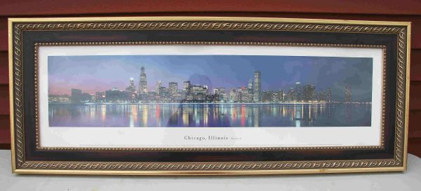 Framed Print of Chicago Sky Line
